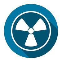 radiation icon symbol with long shadow black,Simple design style.vector illustration vector
