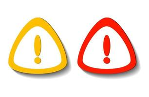 Exclamation mark symbol,Warning Dangerous icon on white transparent.Vector illustration vector