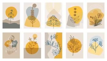 bitter herbs p1, abstract  poster, set 1 vector