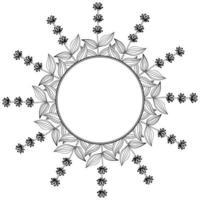 borde de marco amarillo genciana vector
