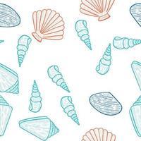 seashells, seamless color 2 vector