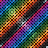 geometría en la ilustración de vector de color brillante. patrón sin costuras hexagonal. patrón abstracto con color azul, verde, magenta, naranja, gris, marrón y negro.
