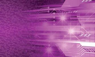 Fondo de concepto de tecnología futura de circuito cibernético vector