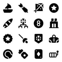 Games and Hobbies Elements vector