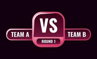 funny pink casual vs medal badge frame vector illustration