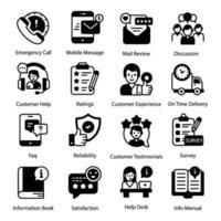 Customer Support Elements vector