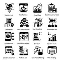 Business and Website Data vector