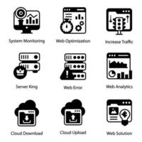 Web and Data server vector