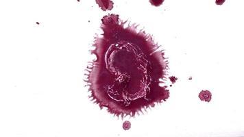 abstrakt bläck droppar på vått papper video