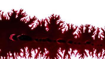 gouttes d'encre abstraites sur papier humide video