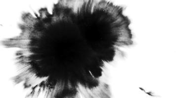 gotas de tinta abstratas no papel molhado video