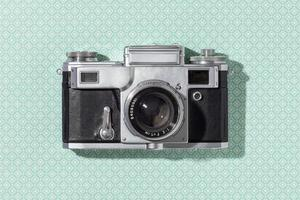 Vintage camera composition photo