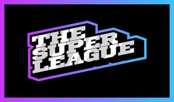 Soccer super League emblem. Vector sport european football or soccer design emblem.
