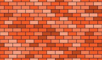 Seamless pattern of cartoon brick wall in coral color. Bright texture used for game, web design, textile, paper. vector