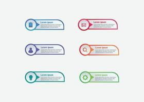 Business Infographic Template Vector in gradient style for presentation, booklet, website etc.