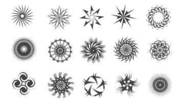 geometric abstract circle ornament bundle vector