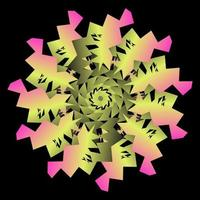 Abstract circle transition with paper effect vector
