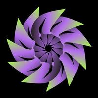 circle transition abstract wrapped in pastel green purple color vector