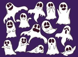 Happy Halloween Ghost Illustration Design vector