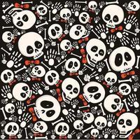 Happy Halloween Skeleton background design vector