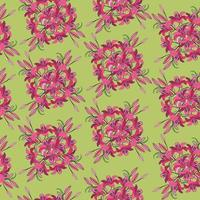 Floral seamless pattern. Flower lily bloom background. Floral textured retro ornament with flowers. Flourish tiled ornamental stylish wallpaper vector