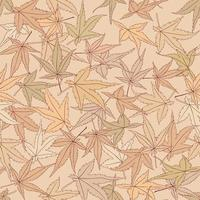 Floral autumnal leaf seamless pattern. Fall leaves background. Autumn flourish nature backdrop vector