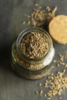 Seeds in jar arrangement photo