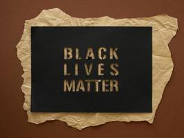 concepto de materia de vidas negras con papel foto