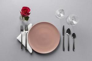 Romantic table setting photo