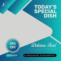 Delicious food special dish offer social media flyer vector