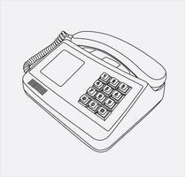 telephone retro handdrow in vector