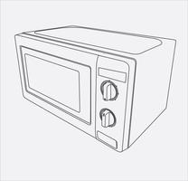 microwave hand drawing in vector eps 10