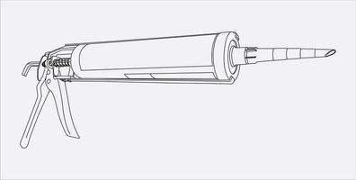 Silicone Gun hand drawing vector