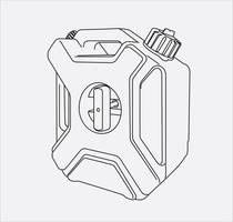 gas tank hand drawing vector