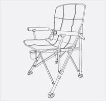 camp armchairs hand drawing in vector eps 10