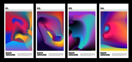 Vector colorful fluid abstract rainbow background for poster