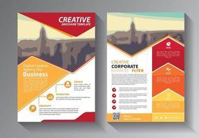 diseño de folletos, diseño moderno de portada, plantilla de informe anual vector