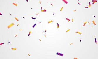 Confeti colorido concepto diseño plantilla vacaciones feliz día, celebración de fondo ilustración vectorial. vector