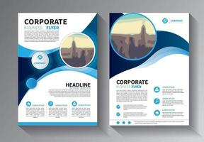Brochure design, cover modern layout, annual report template vector