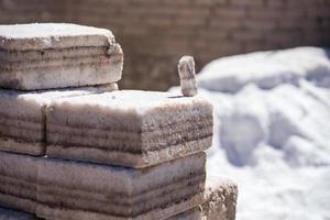 Mineral de sal en el Salar de Uyuni foto