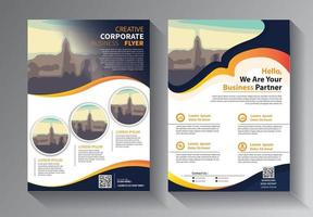 Brochure design, cover modern layout, annual report template set vector