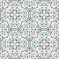Seamless classic tile pattern. ornamental floral background. vector