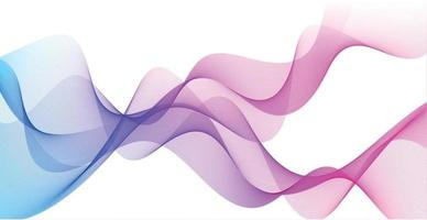 Abstract blue wavy lines on white background - Vector