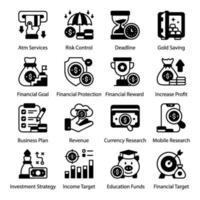 Banking and Payment Security icon set vector
