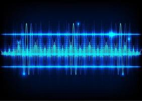 Abstract technology background and Sound waves vector