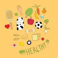 Healthy Icon Set vector