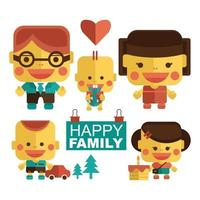Happy family with cheerful smile vector