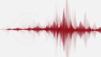 onda de super terremoto con ecualizador circular sobre fondo gris, concepto de diagrama de onda de audio, diseño para la educación y la ciencia, ilustración vectorial. vector