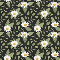 Collection daisy flower seamless pattern for print vector