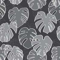 Monstera Deliciosa Leaf Seamless Pattern. Perfect for Textile, Fabric, Background, Print vector